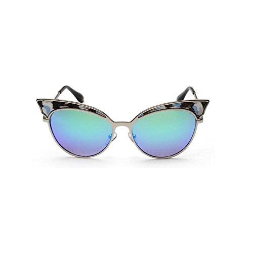 eb5188f89a Buena Alger Gafas de sol ojo de gato tendencia Marco de metal estilo vintage  Gafas de