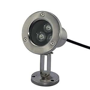 Leedfsw LED 3pcs High Power LED outdoors White Underwater Light AC/DC12V