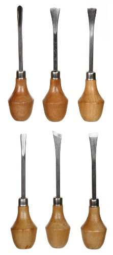 Small Carving Knife - Darice Wood Carving Knife Chisel Set with Large Ball Handles