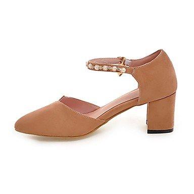LvYuan-ggx Femme Chaussures à Talons Confort Polyuréthane Printemps Eté Décontracté Confort Talon Aiguille Noir Rose Chameau 7,5 à 9,5 cm blushing pink