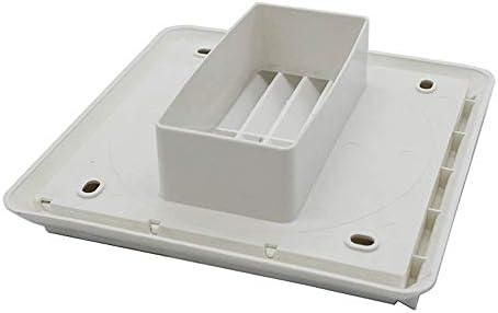 Kair - Rejilla de ventilación para pared, color blanco, 155 mm de diámetro externo y cuadrado, 100 mm – 4 pulgadas rectangular: Amazon.es: Bricolaje y herramientas
