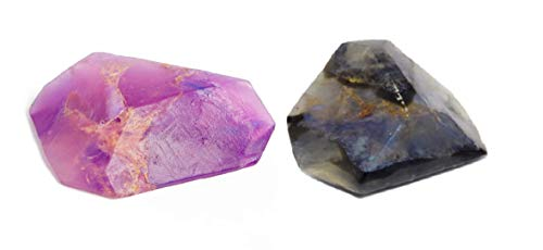 (SoapRocks Amethyst and Labradorite Soap Rock Bundle Set of 2-6 oz)