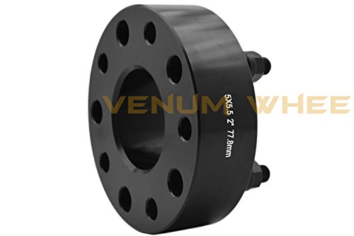 "2012-2017 2/"" Thick New Model Ram 1500 5 Lug Black Hub Centric Wheel Spacers"
