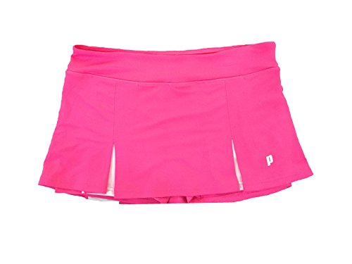 Prince Girl's Stretch Knit Athletic Tennis Skort, Pink, X-Large -