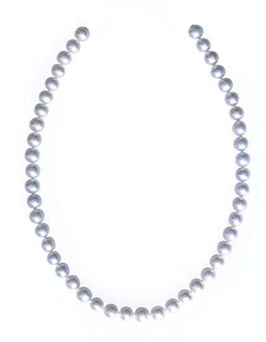 D'AMA Single Strand Freshwater Cultured Pearl Necklace White 6.5-7 MM AAA (7 Mm Single Strand)