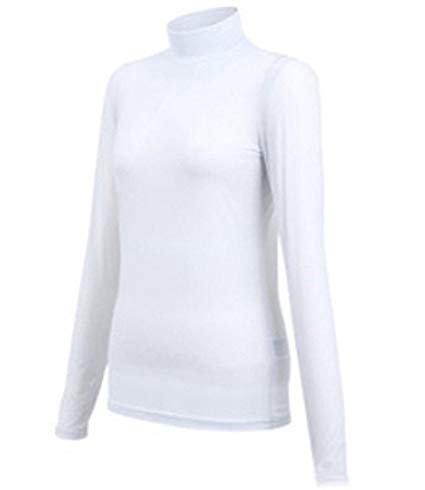 PGM Golf Clothing Silk Touch Anti-UV Ladies Base Shirt Long Sleeve T-shirt White, S