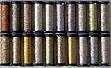 Kreinik Metallic Thread Assortment - Medium Braid (#16) Color Stash - Golds