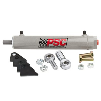 PSC Motor Sports SC2200K Power Steering Assist Cylinder 1.5 Bore x 8 Stroke x .625 Rod w/Rod Ends And Mount Hardware Power Steering Assist Cylinder - Assist Steering
