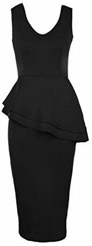 Buy black peplum dress size 24 - 5