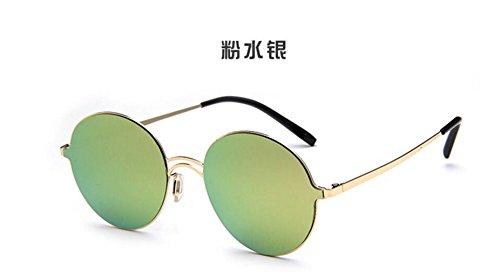 coreano salvaje gafas caja gafas Powdered de en gafas planas redonda de colorido LSHGYJ personalidad sol mercury Versión de sol tendencia GLSYJ sol de señoras Swfxqpt