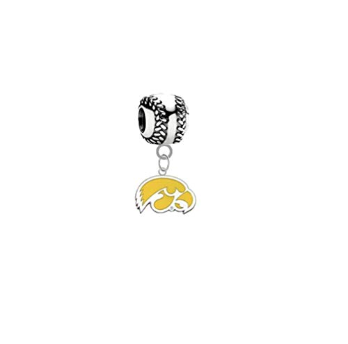 Iowa Hawkeyes Style 2 Softball 3D Universal European Bracelet Charm -