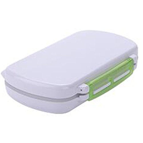 Portable Travel First-Aid Kit Medicine Storage Box Pill Sorter Container Green by Kylin Express