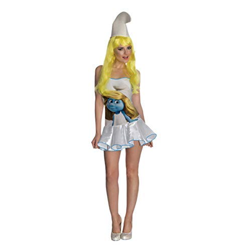 Lady Smurf Costume (Secret Wishes  Smurfs Sexy Smurfette Costume Dress, Multi,)
