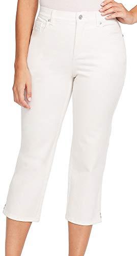 Gloria Vanderbilt Women's Petite Amanda Capri Jeans, Crystal White, 16P