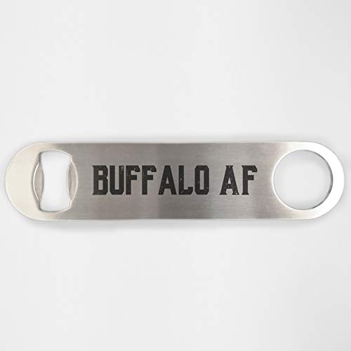Buffalo New York AF Stainless Steel Heavy Duty Flat Bar Key Beer Laser Etched Bottle Opener