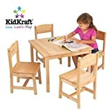 Farmhouse Table and 4 Chairs - Natural Toys Baby Kids Games