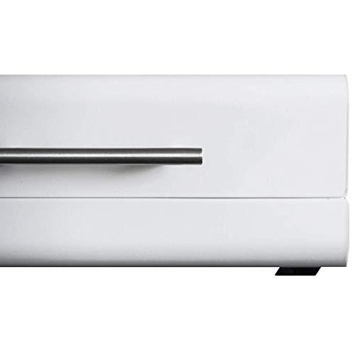 (White Sleek Modern Bread Box For Kitchen Counter - Steel Bread Storage Bin By Cooler Kitchen)