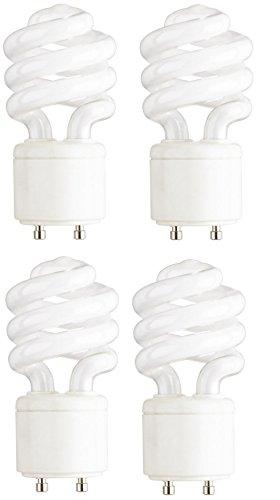 satco S8203 13 Watt T2 Ultra Mini Spiral 2700K Soft White Compact Fluorescent Light Bulb with GU24 Base (60 Watt Replacement) (4-Pack) - 2700k Lamps Fluorescent Bulb