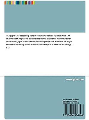 The Leadership Style Of Yoshihiko Noda And Vladimir Putin An Intercultural Comparison Hellmann Lennart Amazon Sg Books