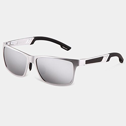 Visera excursionista Regalos de Protección de sol para sol Gafas de de Conducción Deportes UV Gafas hombre de sol de nuevas libre sol Gafas Gafas sol solar White UV400 Silver Frame; Protección C Personalidad aire Gafas al 4qztdzw