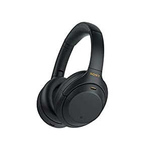 Sony WH-1000XM4 Wireless Industry Leading Noise Canceling Overhead Headphones with Mic for Phone-Call and Alexa Voice…