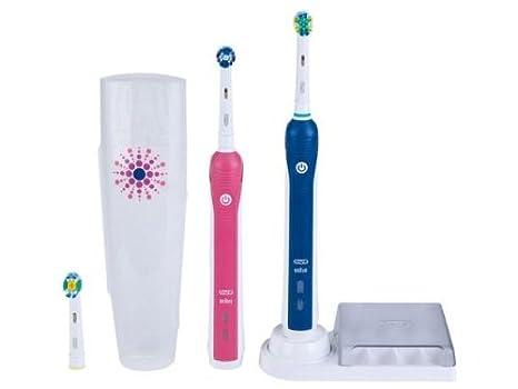 Oral-B Professional Care 3000 Limited Design - Cepillo de dientes eléctrico (Batería, 2 piezas) Azul, Rosa, Color blanco: Amazon.es: Salud y cuidado ...