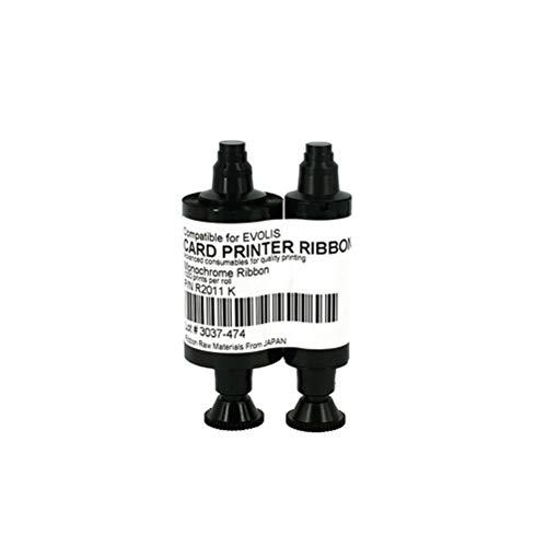 R2011 Black Monochrome Ribbon for Evolis ID Card Printers, 1000 Images, fit for Pebble Dualys Securion