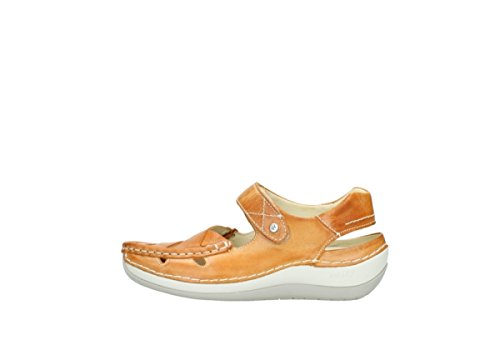 Wolky Komfort Mary Janes Venture-30350 Gult Skinn