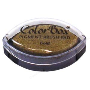 (CLEARSNAP ColorBox Metallic Pigment Cat's Eye Inkpad, Gold)