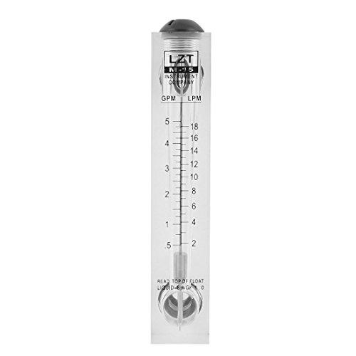 1 Gpm Flow Meter - uxcell LZT M-15 0.5-5GPM 2-18LPM Water Flow Meter Panel Mount Type Flowmeter