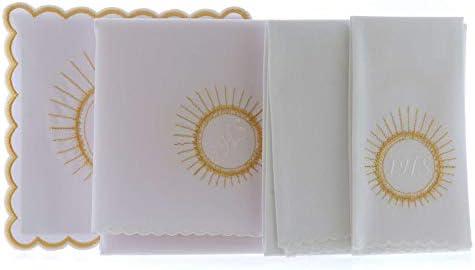 Servicio de Altar Algod?n hostia Bordado Blanco IHS: Amazon.es: Hogar
