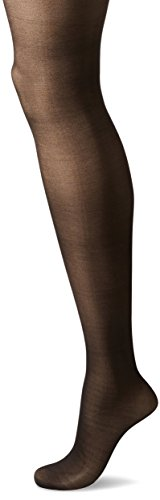 HUE Women's Made to Move Sheer Shaping Tights, Black, - Sheer Nylon Tights