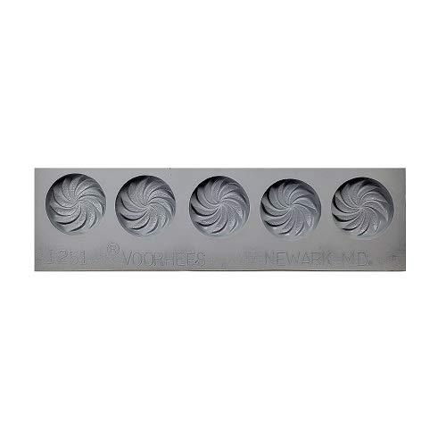 Swirl Mint Rubber Mold, Strip/5