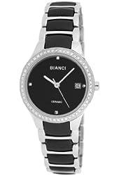 Roberto Bianci Women's Bella Ceramic Watch with Zirconia Studded Bezel-B294BLK-Blk