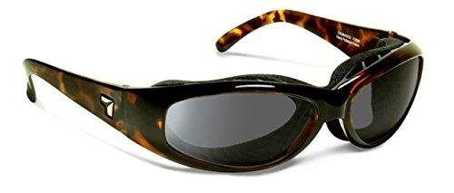 7eye SharpView Chubasco Sunglasses, Tortoise Dark Frame, Gray Lens, - For Eyes Best Sunglasses Dry