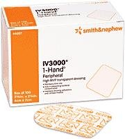 """Smith And Nephew Iv Opsite 3000 Dressing Transparent Adhesive 2 3/8""""X2 3/4"""" - Model 4007"""