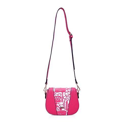 Barbie BBFB356 Bolso Simple de DIbujos Flores Estilo Estudiantil Estilo Gracioso y Elegante Rosa Oscura