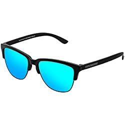 Hawkers Carbon Black Clear Blue Classic, Gafas de sol Unisex, Negro/Azul