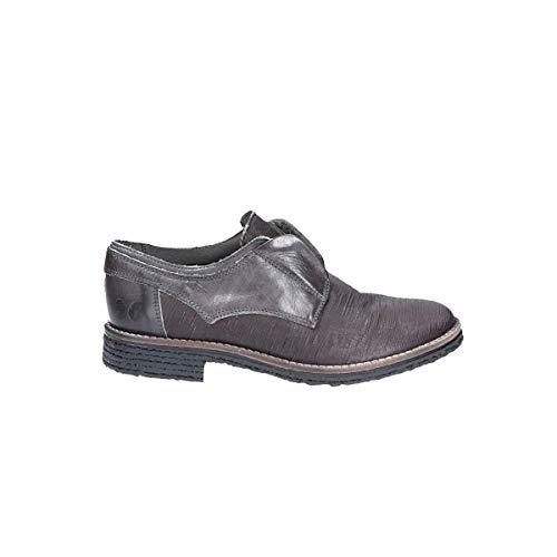 Cuir Gris Chaussures Lacets À 9838GREY Felmini Femme twqpxO1Ong