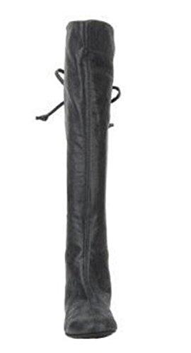 Stivaletti 11sunshop Modello Dalia Suede Dal Design Hgilliane In 33-44 Solo Con Misura Del Piede Noir