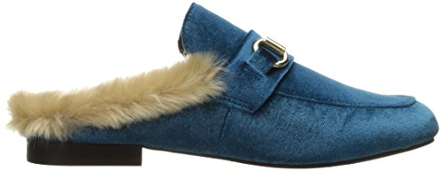 Steve Madden Jersey Slip-on Mocassino In Velluto Turchese