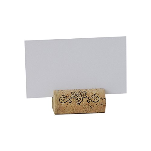 EMazing Goods Wine Cork Place Card Holders Custom Cork Card Holders Grape Swirl Set of 25 Includes Place Cards Escort Card Rustic Wine Cork Table Décor Wine Theme Wedding Cork Placecard (Cork Place Cards)