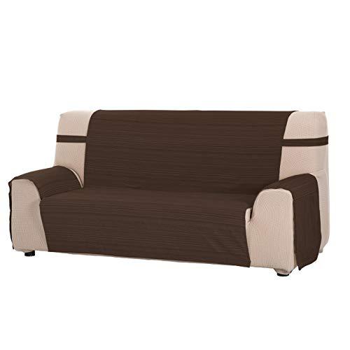 Funda Cubre Sofá Modelo Darsena, Color Chocolate, Medida 4 Plazas – 190cm de Respaldo