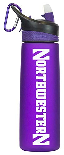 (The Fanatic Group Northwestern Wildcats NCAA 24Oz Frosted Water Bottle - Team Color,)