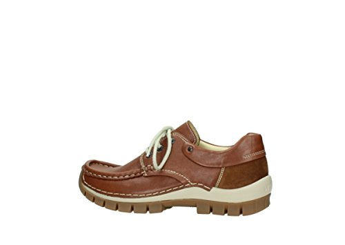 Lace 4701 Cognac 70430 Fly Leather shoes Wolky up dvxq6FZd