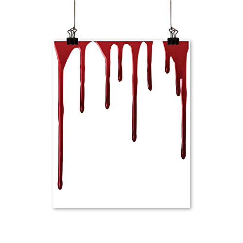 Modern Canvas Painting Wall Art Horror Spooky Halloween Zombie Crime Scary Help me Themed Illustration Red White for Home Office,28