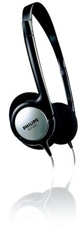 Philips SHP1800 Kabelgebundener Indoor-TV On-Ear-Kopfhörer (6m LR-Kabel, 6,3mm Adapter) schwarz