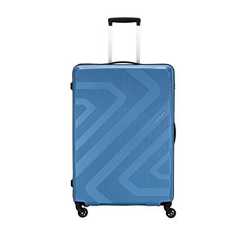 Kamiliant by American Tourister KAM Kiza Polypropylene 79 cms Ash Blue Hardsided Check-in Luggage (KAM KIZA SP 79CM – ASH BLUE)