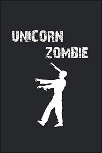 Halloween Idee.Unicorn Zombie Notizbuch Notizheft Notizblock Geschenk