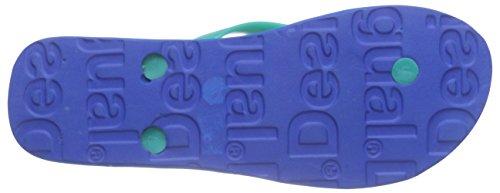 Desigual Shoes_flip Flop 7 - Sandalias Mujer Turquesa - Turquoise (5024)